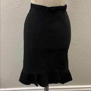 NEW Max Studio London black flare skirt size M